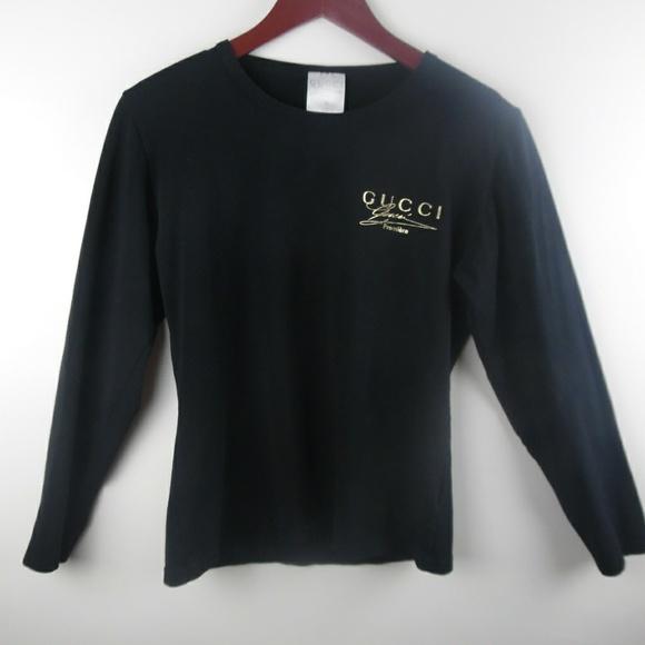 Gucci Tops - GUCCI Premiere Women s Top Sz M Black Stretch 66cdee62bd
